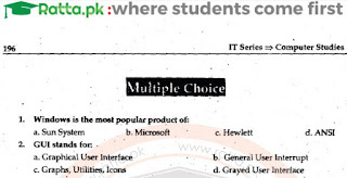 1st Year Computer Chapter 7 MCQs Solved pdf - ICS Part 1