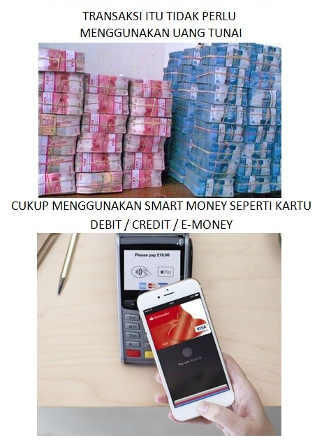 Ayo Bertransaksi Non Tunai - Smart Money Wave