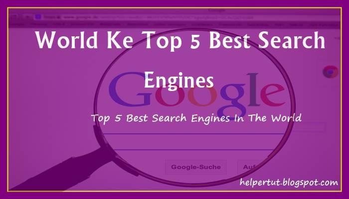 duniya ke top 5 search engine