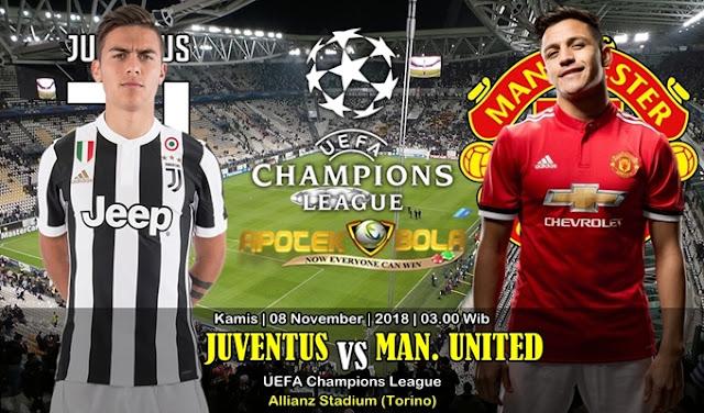 Prediksi Juventus Vs Manchester Utd 08 November 2018