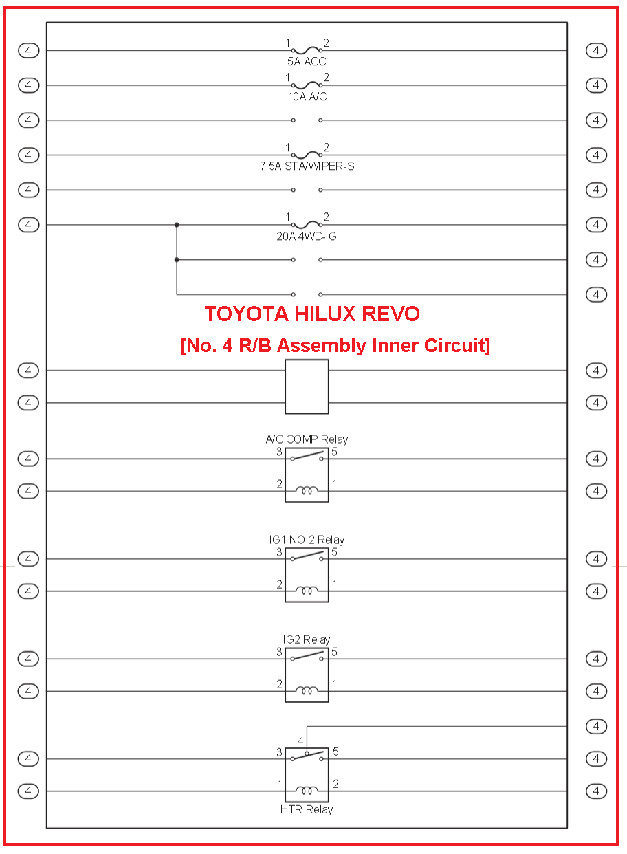 1989 Toyota Hilux Wiring A C Electrical Diagrams Revo Diagram Engine No 4 1986