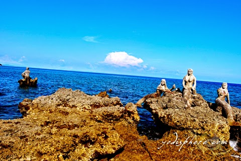 hover_share Three mermaids and a merman at the coast of Torrijos Freedom Park