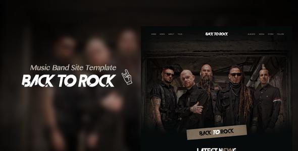 Back to Rock - Creative Music Band WordPress Theme - TechnoTube