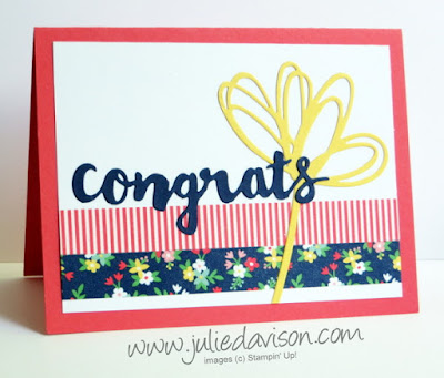 Stampin' up! Love & Affection Sunshine Wishes Sayings card #stampinup www.juliedavison.com