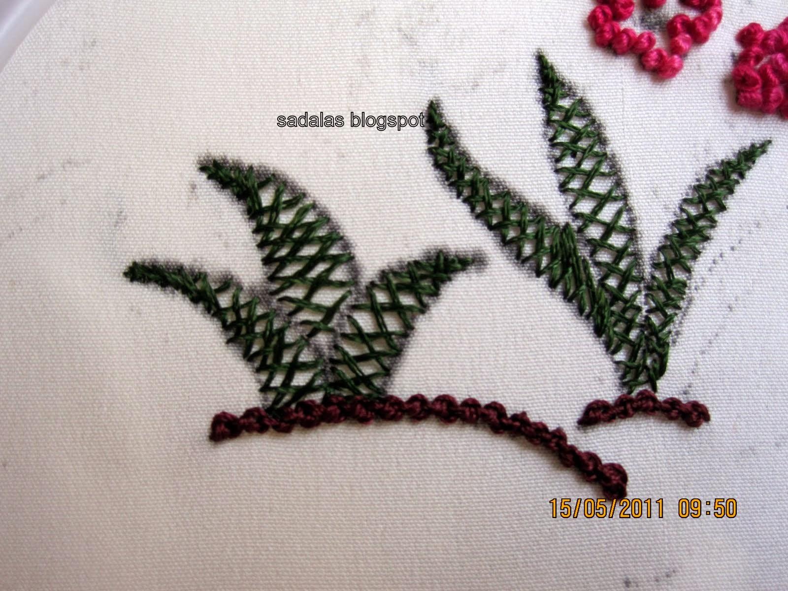 Sadala's embroidery: bullion work: saree.