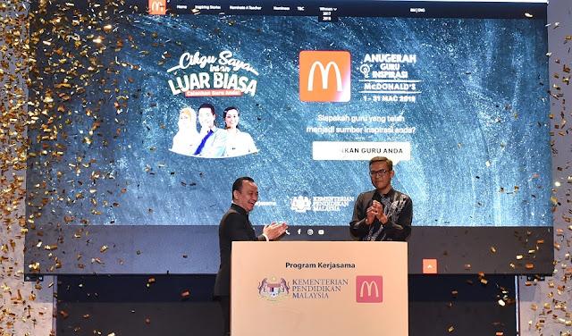 Anugerah Guru Inspirasi McDonald's 2019 Kembali Untuk Memberi Penghargaan Kepada Guru  Pencalonan Dibuka Sehingga Penghujung Bulan Mac 2019