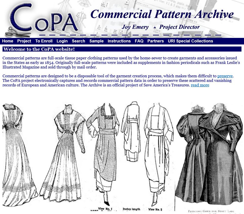 UpFront with NGS: Sewing Patterns … Not just nostalgia and a way of ...