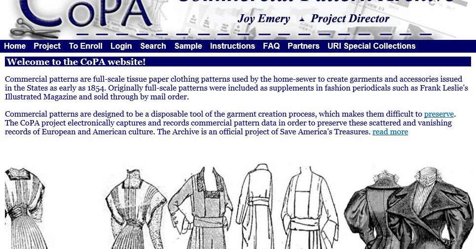 Sewing Patterns … Not just nostalgia and a way of life for over a century!