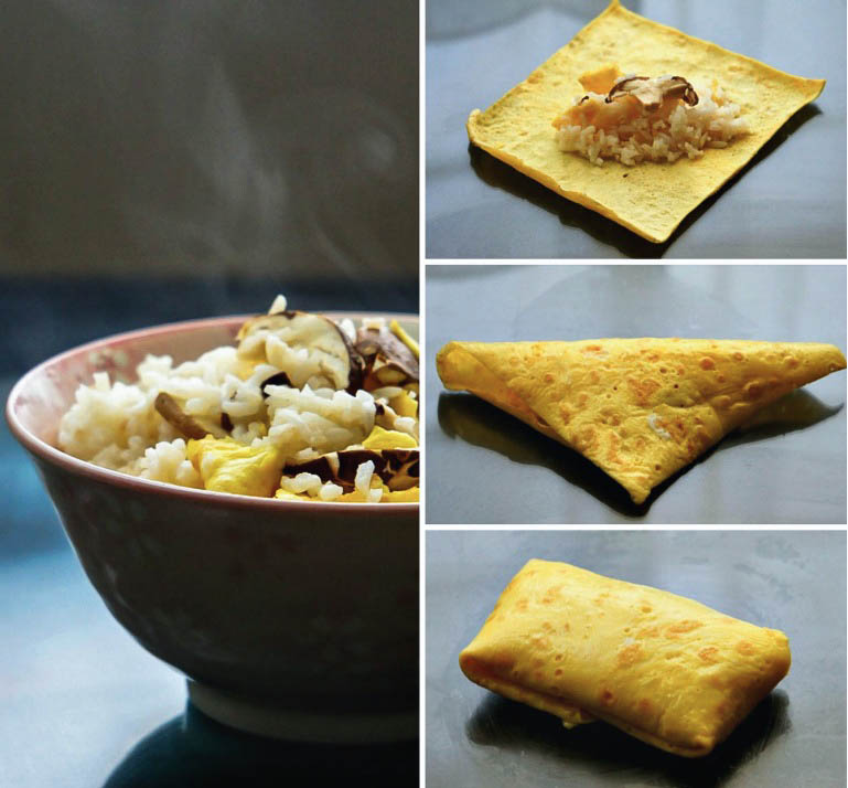 How to make Japanese Omelette Parcels or Fukusa Sushi