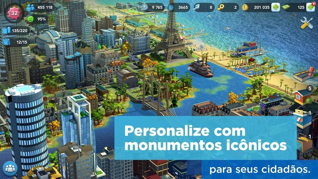 SimCity BuildIt APK MOD Dinheiro / Chaves / Ouro infinito v 1.38.0.99752