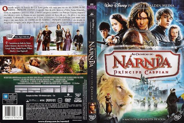 Capa DVD As Crônicas de Nárnia Príncipe Cáspian