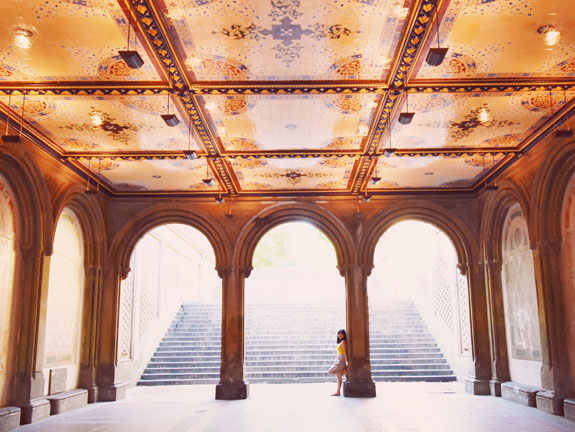 most instagrammable places in NYC bethesda terrace