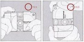 Olympus XA1, Handling the camera