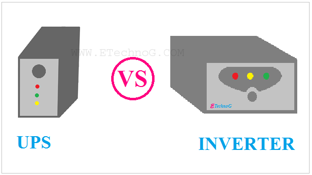 Difference Between UPS and Inverter, UPS VS Inverter