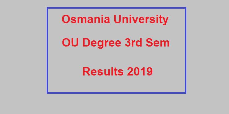 Manabadi OU Degree 3rd Sem Results 2019