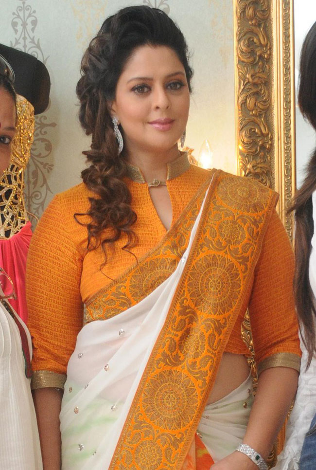 Actress Nagma Latest Hot Sexy Saree Photos, Stills -8866