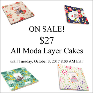 On sale - all Moda Layer Cakes $27