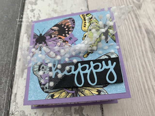 Fun folded, easy mini album using Butterfly Papers from Saleabration