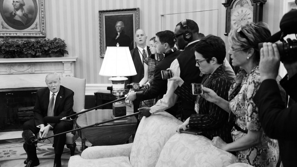 b97f03be8b US President Donald J. Trump speaks during a meeting with Peruvian  President Pedro Pablo Kuczynski (not pictured) in the Oval Office of the  White House in ...