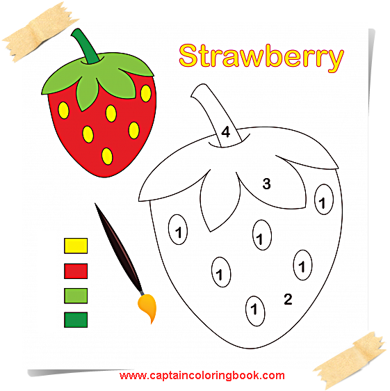 Free Strawberry Coloring Pages Printable, Download Free Clip Art ... | 562x561