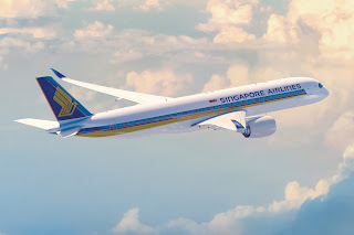 Singapore Airlines Airbus A350 in flight