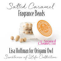 LISA HOFFMAN FOR ORIGAMI OWL SWEETNESS OF LIFE SALTED CARAMEL FRAGRANCE BEADS available at StoriedCharms.com