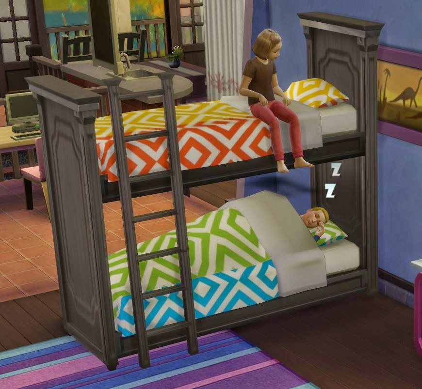 My Sims 4 Blog Functional Bunk Bed By Ugly Breath