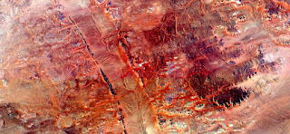 tribute to Pollock, abstract landscapes of deserts of Africa ,Abstract Naturalism,abstract photography deserts of Africa from the air,abstract surrealism,mirage in Sahara desert,red brushstrokes