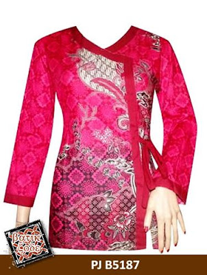 Model Baju Batik Kancing Samping