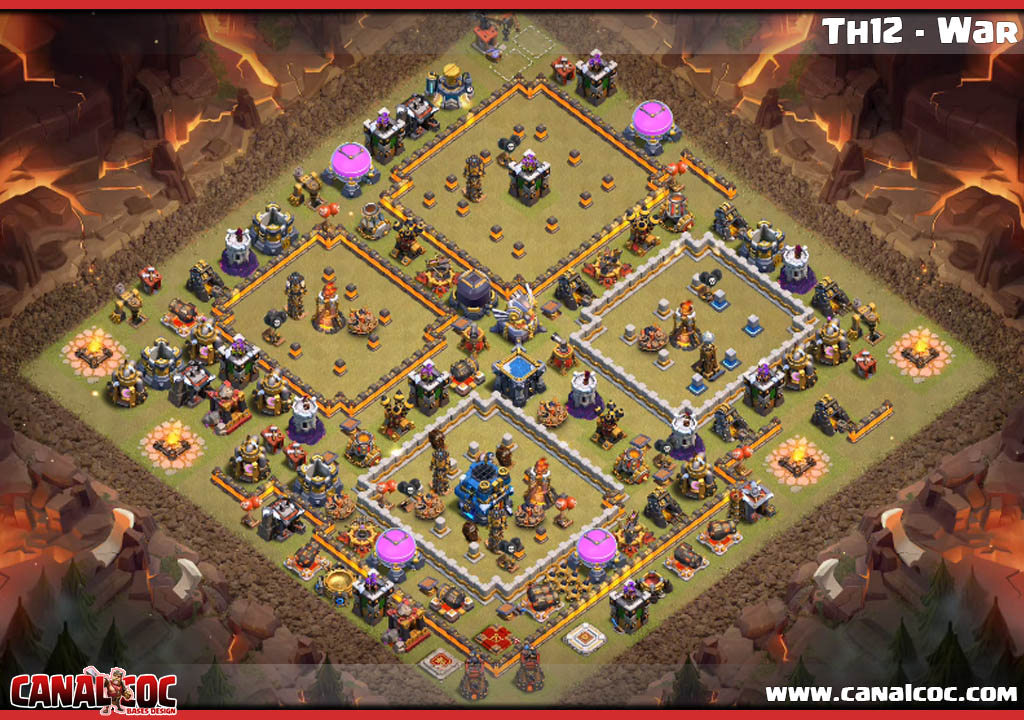 Best Th12 War Base 2019 Anti 1 Star 9