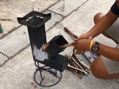 เตาจรวจ(rocket stove)