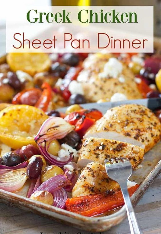 Easy Greek Chicken Sheet Pan Dinner