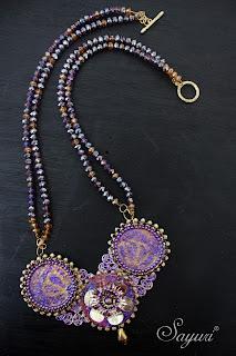 Rhinestone paper necklace