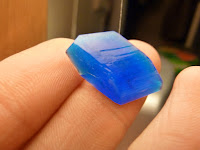 Small rhombic copper sulphate crystal