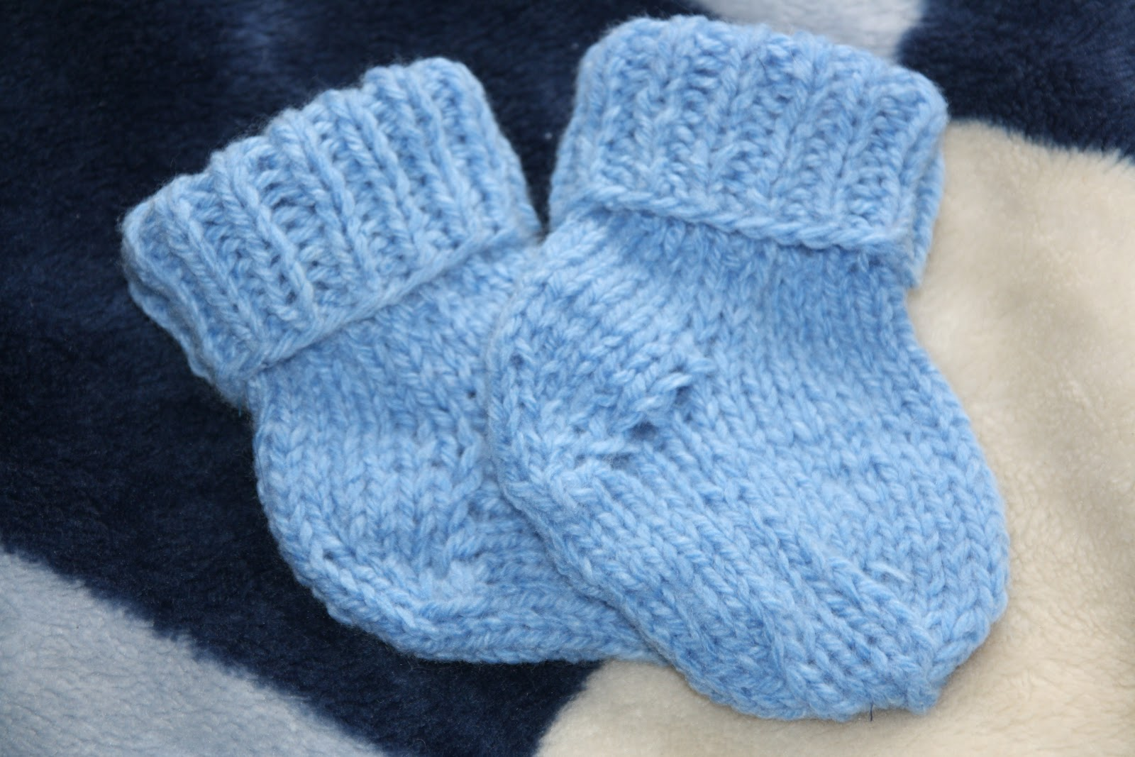 Вязаные носочки своими руками