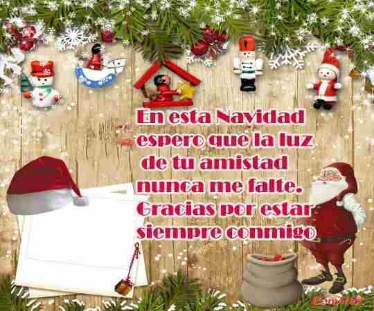 Deseos navideños para amistad