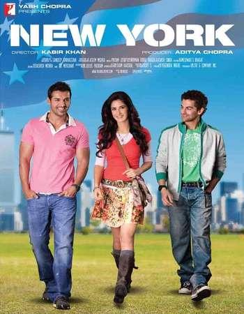 Poster Of New York 2009 Hindi 600MB BRRip 720p ESubs HEVC Watch Online Free Download downloadhub.net