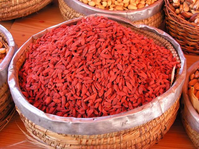 bayas de goji fuente importante de antioxidantes
