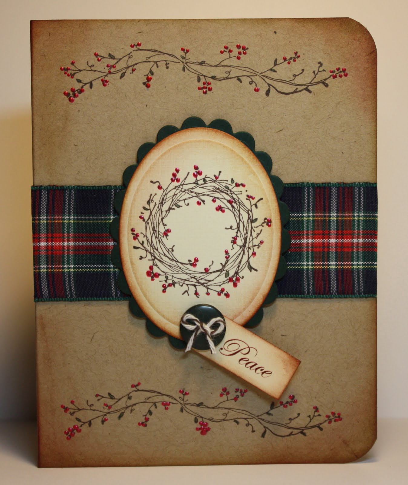 Thimbles Bobbins Paper And Ink Country Christmas Wreath