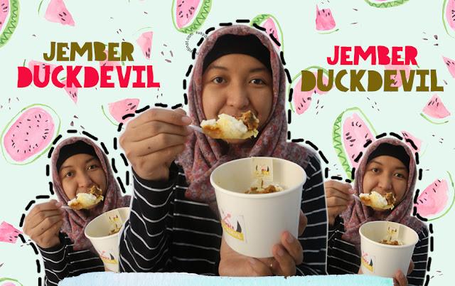 Jember DuckDevil merupakan bebek rice bowl pertama yang ada di Jember. Makanan bebek dengan ciri khas bumbu yang kaya akan rempah ini sangat cocok untuk kita nikmati sehari-hari. Selain harganya yang murah, rasanya pun sangat enak.