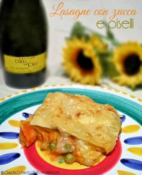Lasagne con zucca e piselli