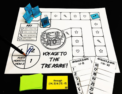 Voyage to the Treasure linear equations game
