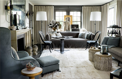 susan ferrier living room with fireplace