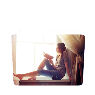 Preview of girl studing at window scene wallpaper icon