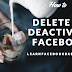 Delete Deactivate My Facebook Account temporarily or Forever Right Now | How to #DeleteFacebook