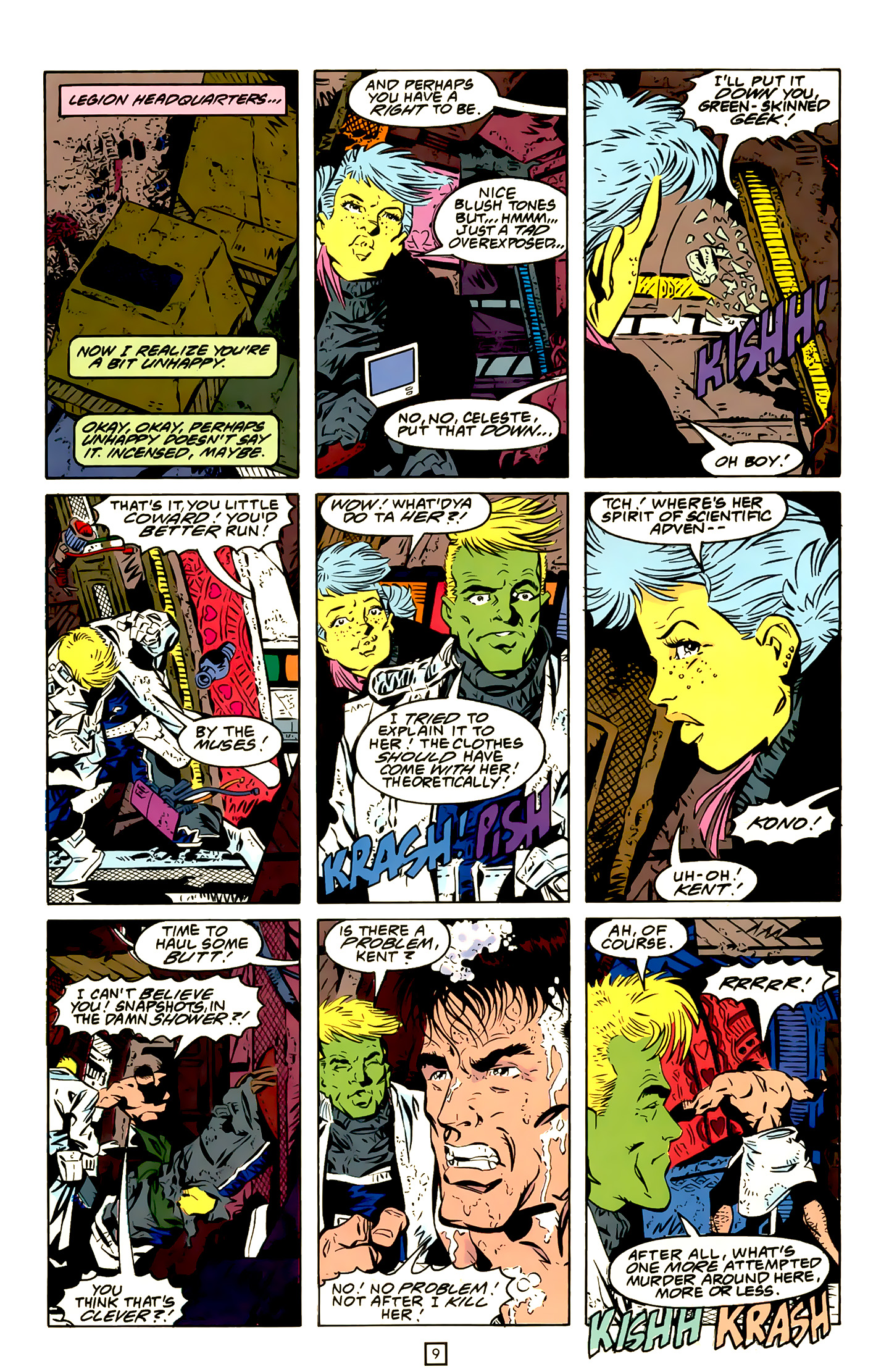 Legion of Super-Heroes (1989) 20 Page 9
