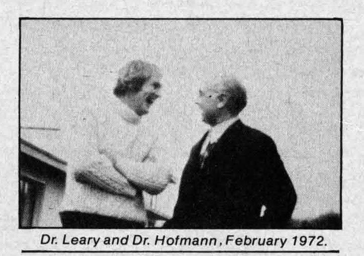 Tomothy Leary with Albert Hofmann, 1972