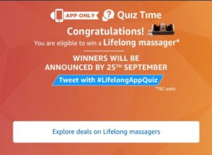 amazon lifelong massager quiz all answers tricksstore