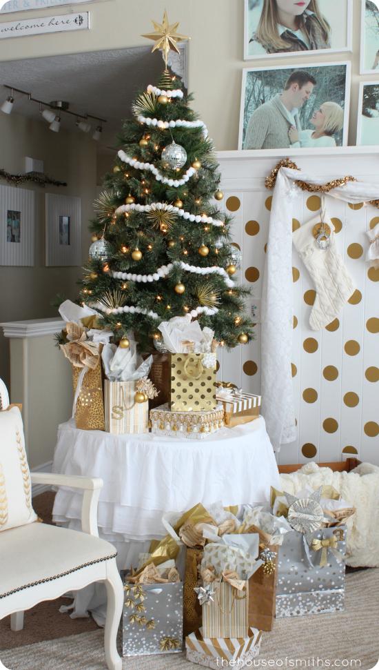 Modern Whimsical Gold Christmas Decor  Our Holiday Home