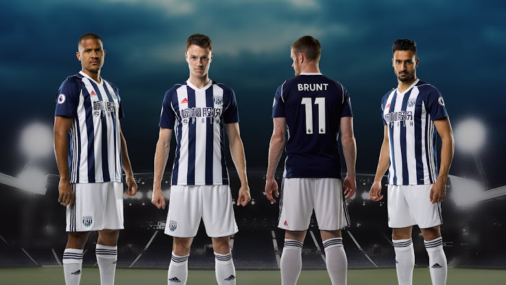 West Bromwich Albion 17 18 Home Kit Released Footy Headlines